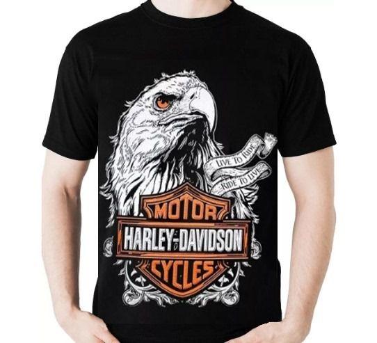 Camisa Harley Davidson Águia - Live to Ride