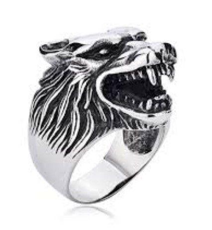 Anel Lobo em aço