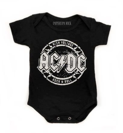 Body Bebê ACDC High Voltage
