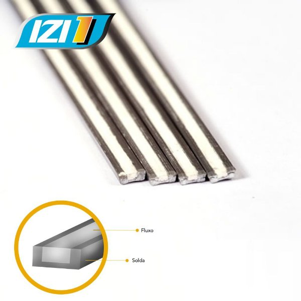 Solda IZI 1 - Alumínio/Cobre com Fluxo KIT 8 varetas