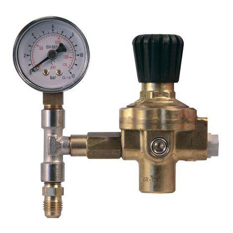 REGULADOR de Pressão para Nitrogênio M10X1FX 1/4M 10BAR MARIEL - até 150psig