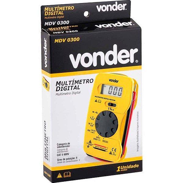 Multímetro Digital MDV0300 VONDER