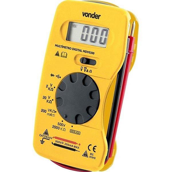 Multímetro Digital MDV 0300 - 38.70.300.000 - Vonder