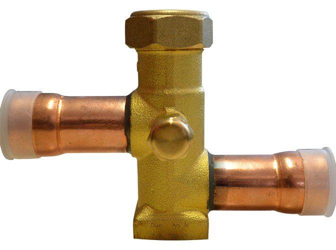 """Válvula de serviço p/Condensadora com Base de Fixação 7/8"""""""
