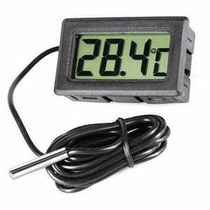 Termômetro Preto Digital INS0011