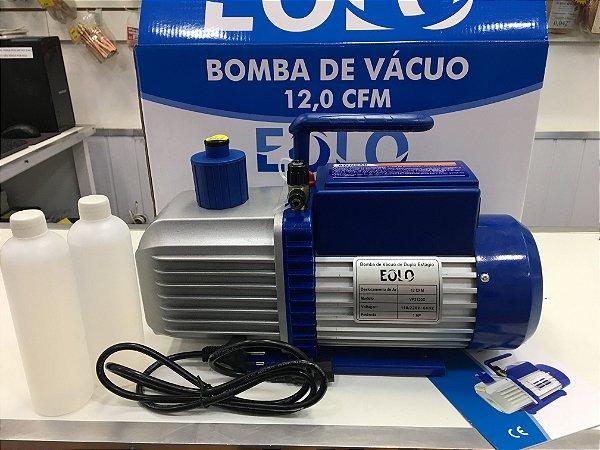 Bomba de Vácuo 12,0 CFM Bivolt Duplo Estágio EOLO