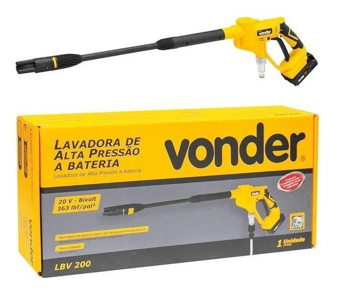 Lavadora de alta pressão a bateria LBV 200 VONDER 68.64.000.200