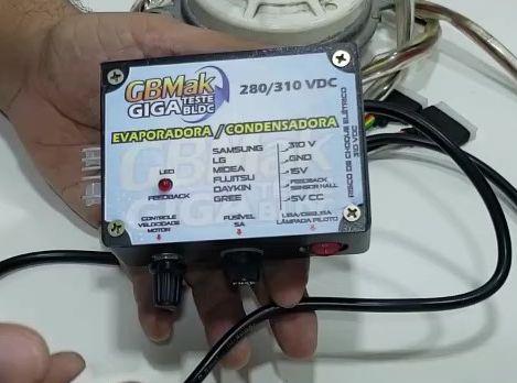 Giga teste BLDC Ar Split Inverter GBMAK