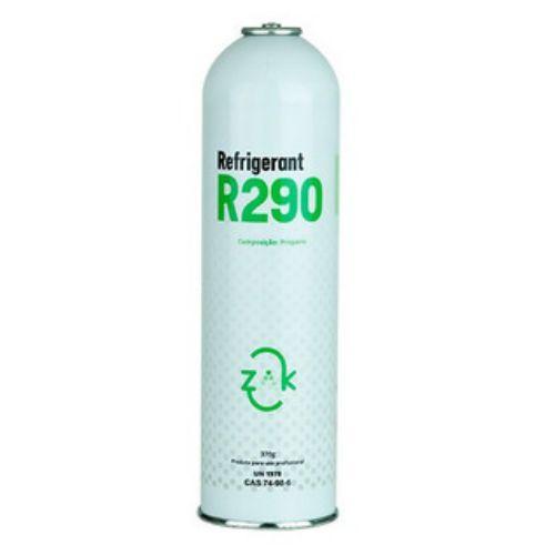 Gás refrigerante R290A Propano 0,370KG lata descartável