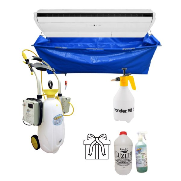 KIT Higienização Profissional POP Clean 2P Coletor Piso Teto GBMAK