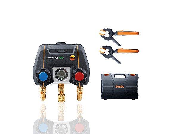 Testo 550i Kit SMART - Manifold digital operacao via app, incluindo 2x 115i, maleta, manual e protocolo de calibracao 0564335