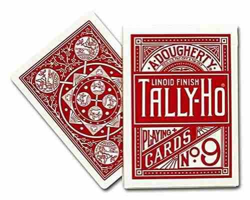 6A - Baralho Tally- Ho Fan Back Vermelho Cardistry Magica - Turco Poker