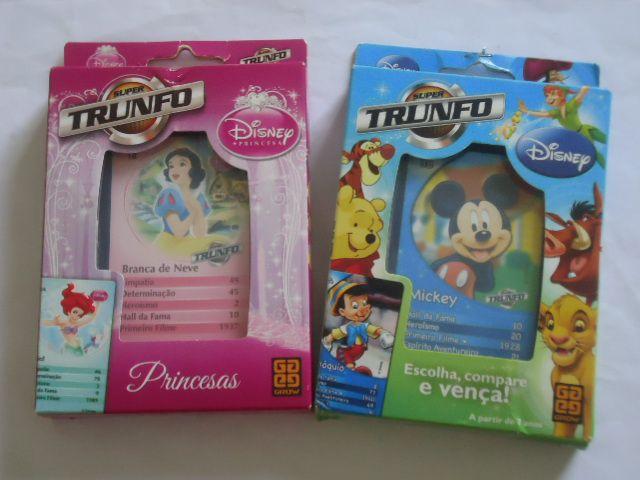 1A - Jogo de cartas - Super Trunfo Disney - Princesa  OU  Mickey   - 18,80 Cada