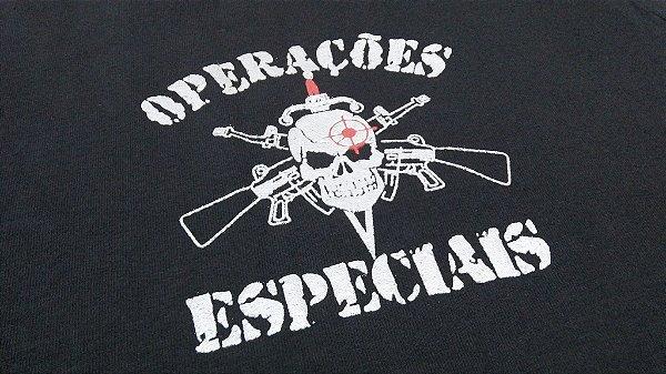 Camiseta FoxBravo - estampa Operações Especiais fuzis