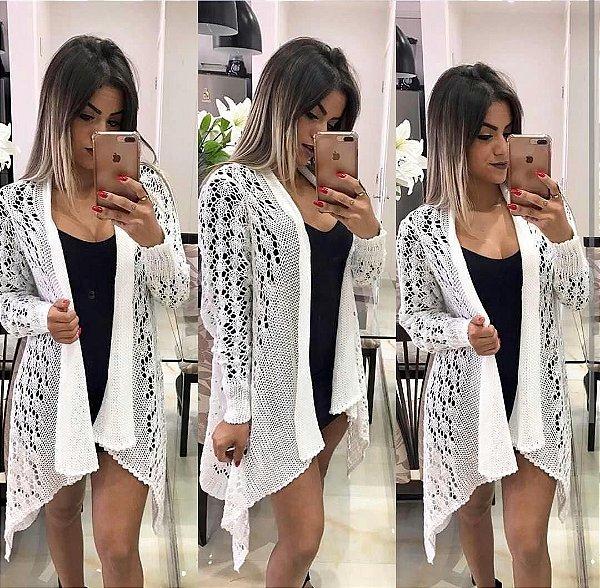 Kimono furadinho trico off white