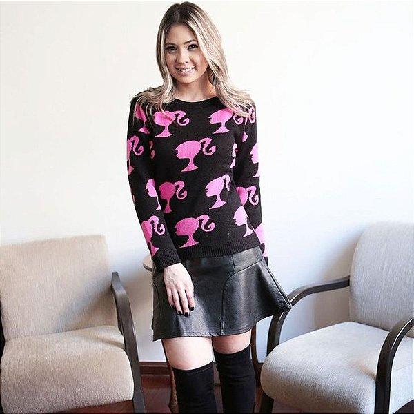 Blusa da Barbie de trico