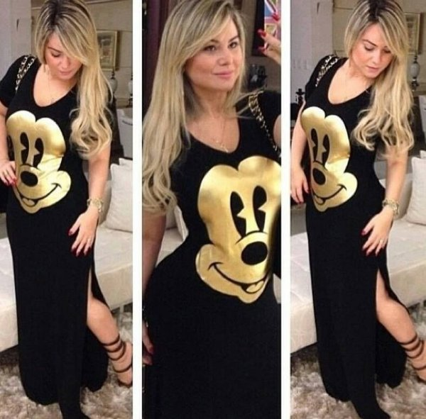 Vestido Longo do Mickey