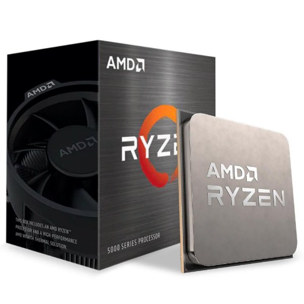 Processador AMD Ryzen 5 5600X, Cache 35MB, 3.7GHz (4.6GHz Max Turbo), AM4 - 100-100000065BOX