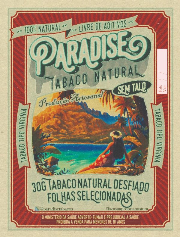 Tabaco Paradise Virginia sem Talo