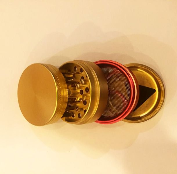 Dichavador de Metal Grande - Dourado e Vermelho