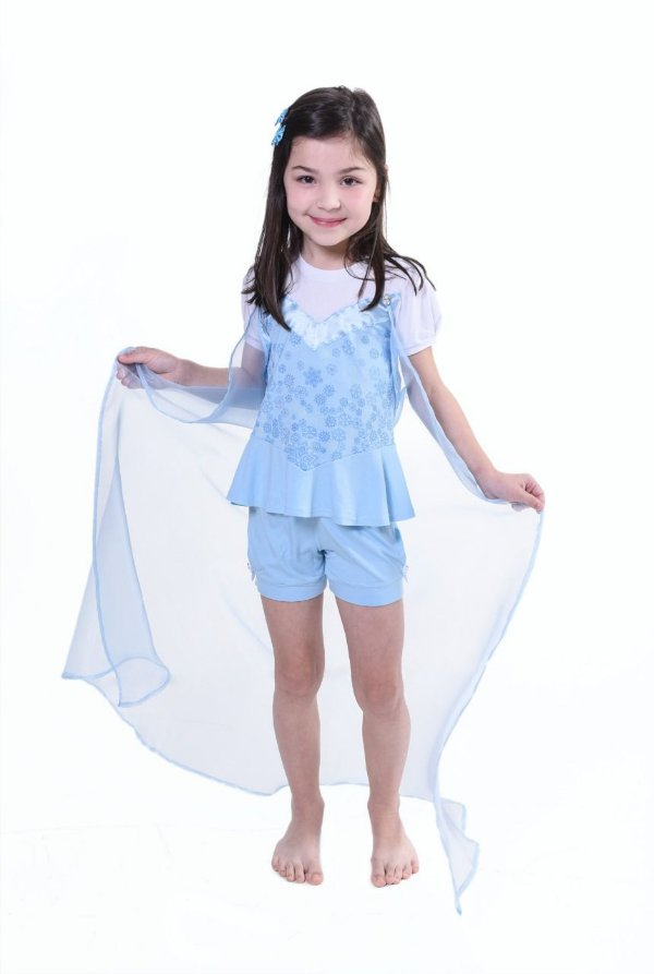 Pijama infantil curto frozen
