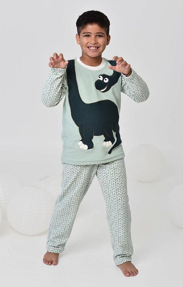 63fd86f45bd65d Pijama infantil de inverno soft de dinossauro mãe e filho