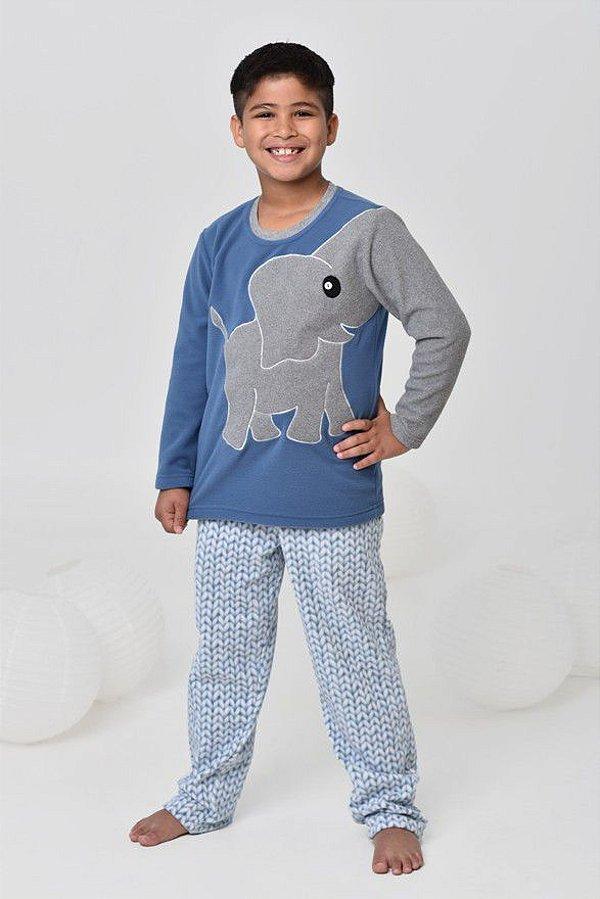 299c94456c0e5d Pijama infantil masculino de inverno soft de elefante
