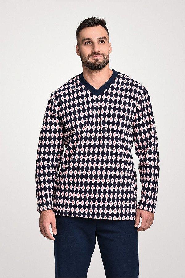 Pijama Masculino Soft Inverno Xadrez Escocês