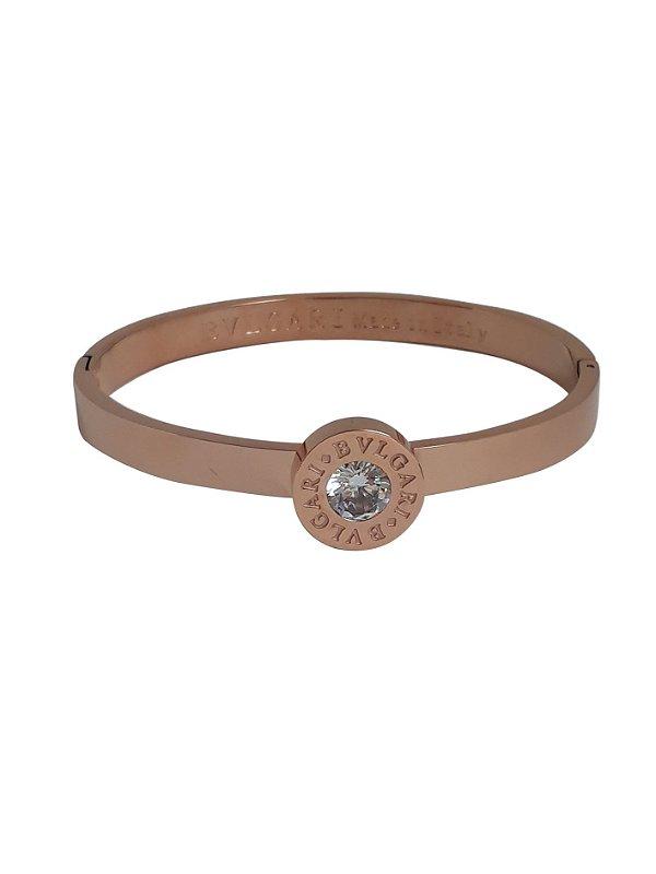 2ae2c56abd5 Bracelete Bvlgari Rosé - Balangandã Online
