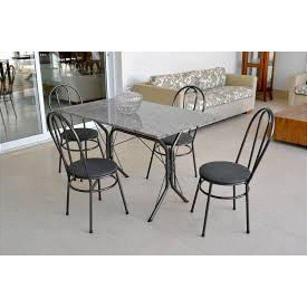 Mesa Madri 1,20 com 4 cadeiras Metalmix