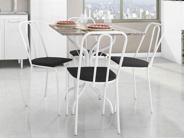Conjunto de Mesa 0,75cm x 0,75cm  com 4 Cadeiras