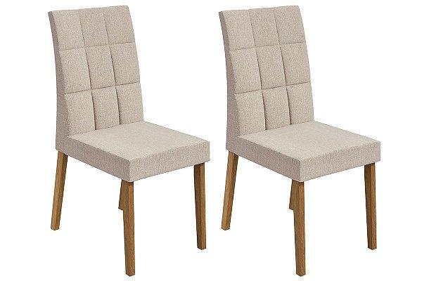 Cadeira Odara  Imbuia/Naturale-Bege