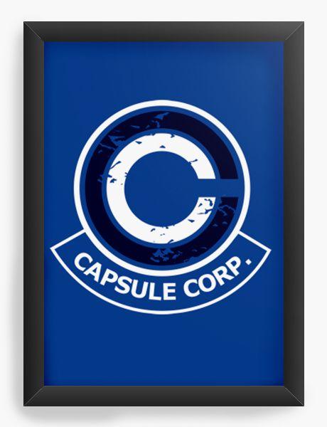 Quadro Decorativo A4(33X24) Anime Capsule Corp