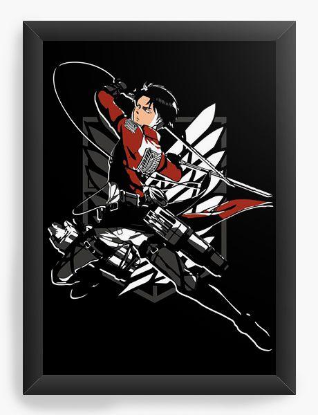 Quadro Decorativo A4(33X24) Anime Attack on Titan Levi