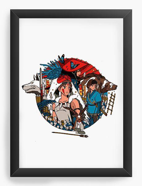 Quadro Decorativo A4(33X24) Anime Mononoke