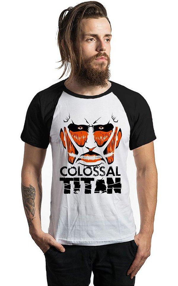Camiseta Anime Raglan Attack on Titan