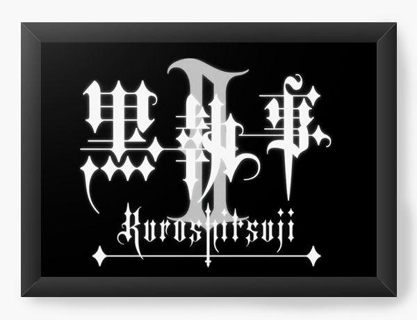 Quadro Decorativo A4(33X24) Anime Kuroshitsuji