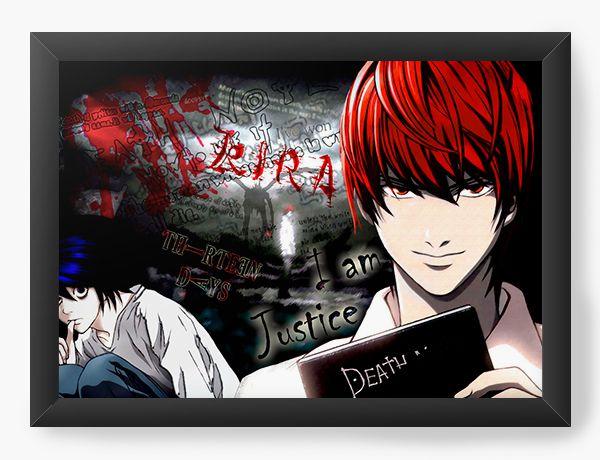 Quadro Decorativo A4(33X24) Anime Death Note