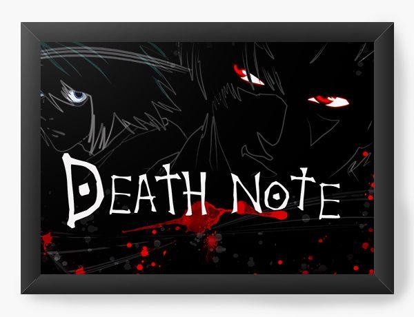Quadro Decorativo A4(33X24) Anime Death Note Sombrio