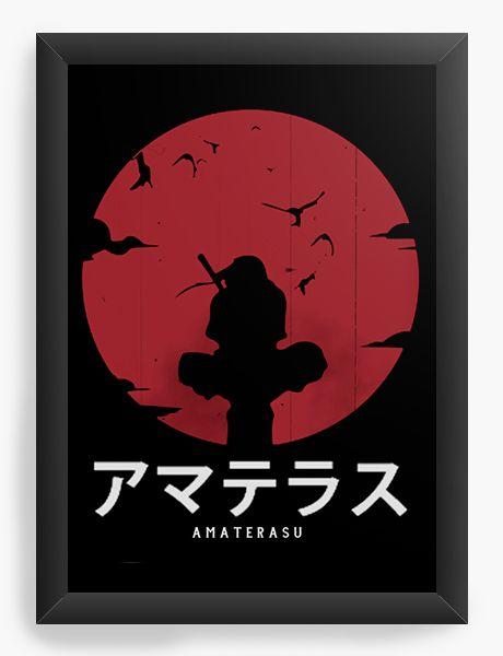 Quadro Decorativo A4(33X24) Anime Amaterasu