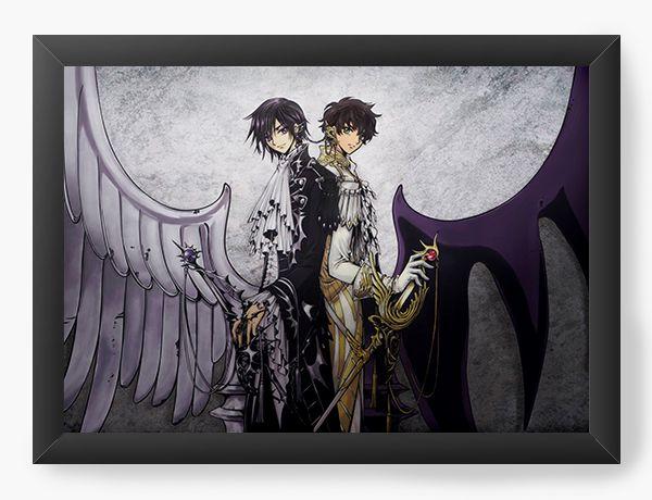 Quadro Decorativo A4(33X24) Anime Code Geass  Angel and demon