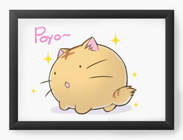 Quadro Decorativo A4(33X24) Anime Poyo