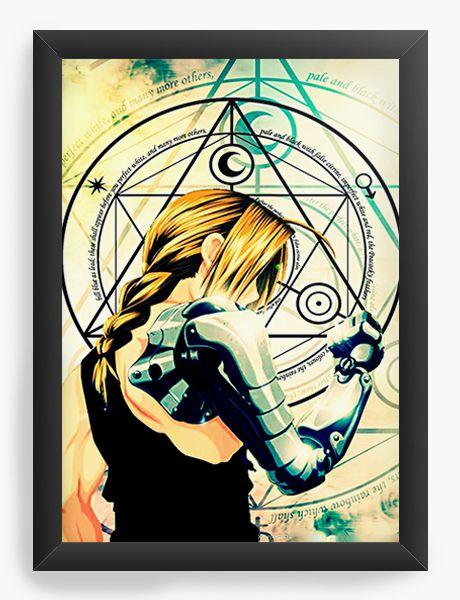 Quadro Decorativo A4(33X24) Anime Fullmetal Alchemist Edward Elric