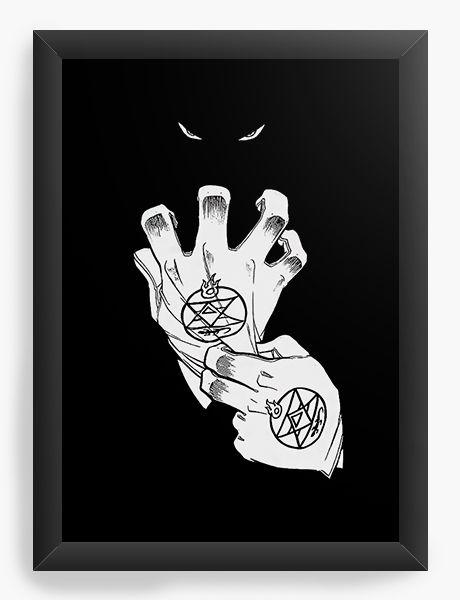 Quadro Decorativo A4(33X24) Anime Fullmetal Alchemist Powerful