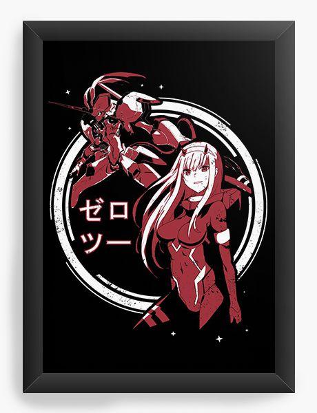 Quadro Decorativo A4(33X24) Anime Darling in the Franxx