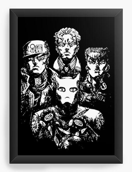 Quadro Decorativo A4(33X24) Anime  Jojo's Bohemian Rhapsody