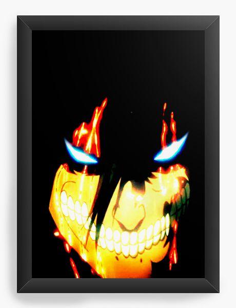 Quadro Decorativo A4(33X24) Anime Attack on Titan  Eren Yeager
