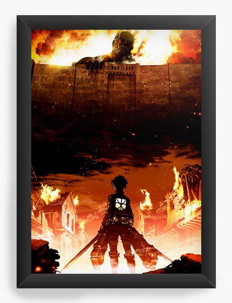 Quadro Decorativo A4(33X24) Anime Attack on Titan