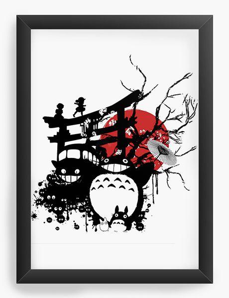 Quadro Decorativo A4(33X24) Anime Spirits