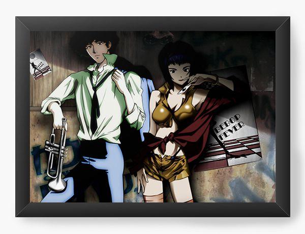 Quadro Decorativo A4(33X24) Anime Cowboy Bebop Feved